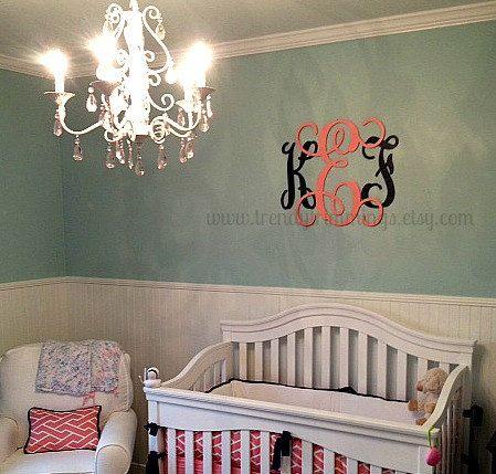 Best Over Bed Images On Pinterest Monogram Wall Decals - Monogram wall decals wood
