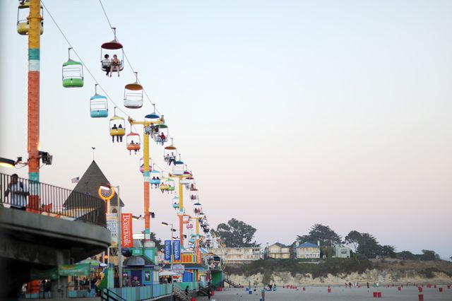 Santa Cruz Beach Boardwalk - wild memories. My dad, brother, sister and I would swim the from the river's mouth to the pier (in wet suits) and then walk back. If we were lucky, we got to ride part way back.