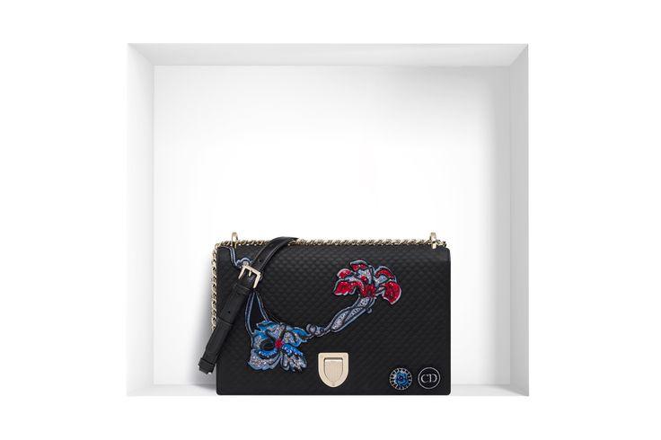 Borse Dior estate 2015: Diorama o Lady Dior? Dior Diorama grande vitello trapuntato e ricami floreali