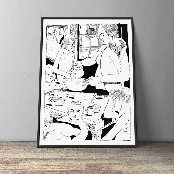 Pancakes - Poster by Pisket | WOLLAWONKA