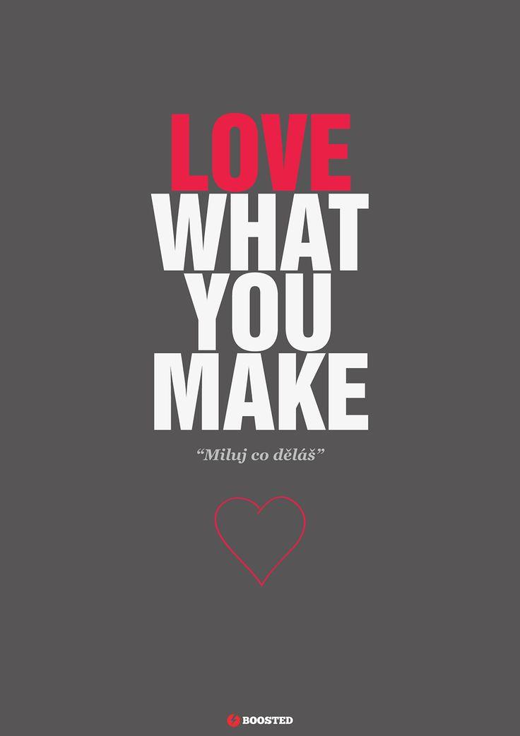Motivační plakát Miluj, co děláš (Anglicky/Česky)