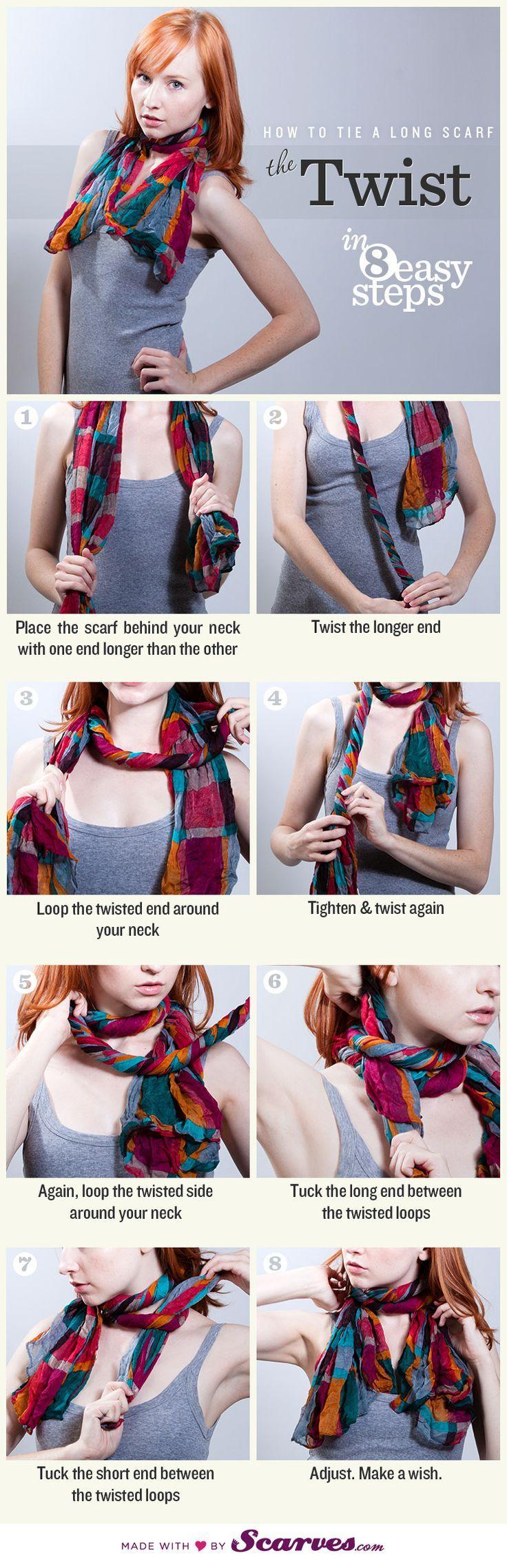comment nouer et porter un grand foulard comment chic. Black Bedroom Furniture Sets. Home Design Ideas