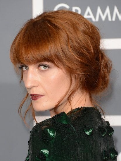Florence Welch: A fan of the full-figured fringe, Florence Welch wears bangs that cascade into a face frame, making them much more versatile.