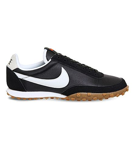 NIKE Waffle Racer nylon and suede sneakers. #nike #shoes #