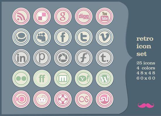 Free Social Media Bookmarking Icons