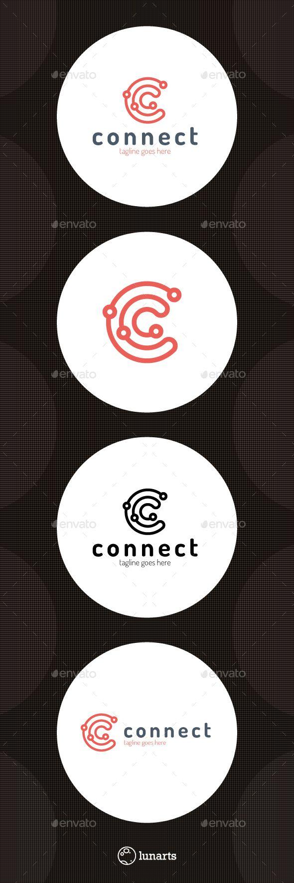 Connect Line Logo - Letter C