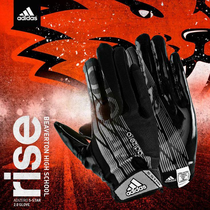 Beaverton H.S. Adidas Football Equipment, Adizero 5-Star 2.0 Glove