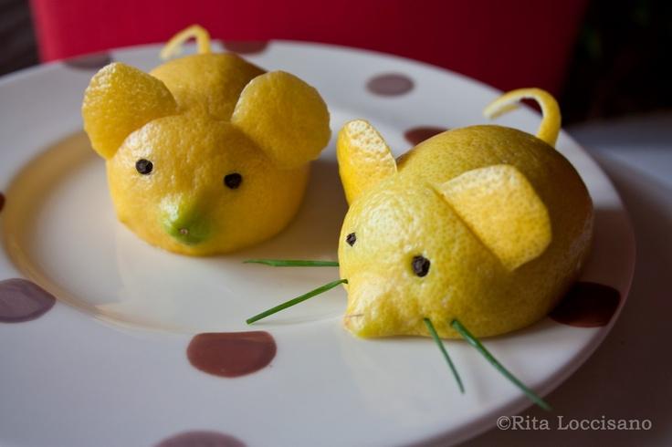 A Mouse On The Table: Un topolino di limone per guarnire i piatti di pesce