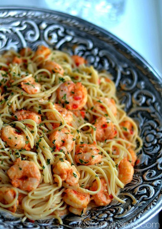 This Bang Bang Shrimp and Pasta has the most scrumptious, creamy sauce. Plus it's ready in about 20 minutes