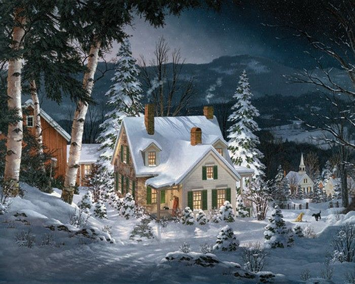 """""""Friends in Winter"""" by Fred Swan"""