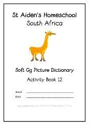 Soft G - - Alphabet Picture Dictionary Workbooks/Activity Books, Freebies, download one or download all #Homeschool #education
