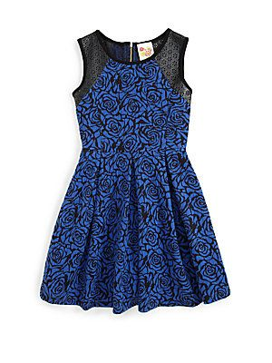 Kiddo Girl's Rose Jacquard Dress - Possible 6th Grade Graduation Dress..
