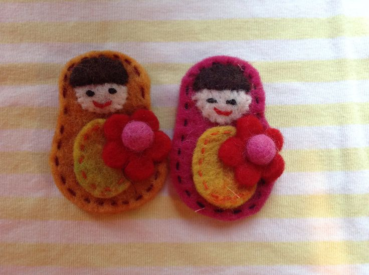 Felt brooches. To cute.