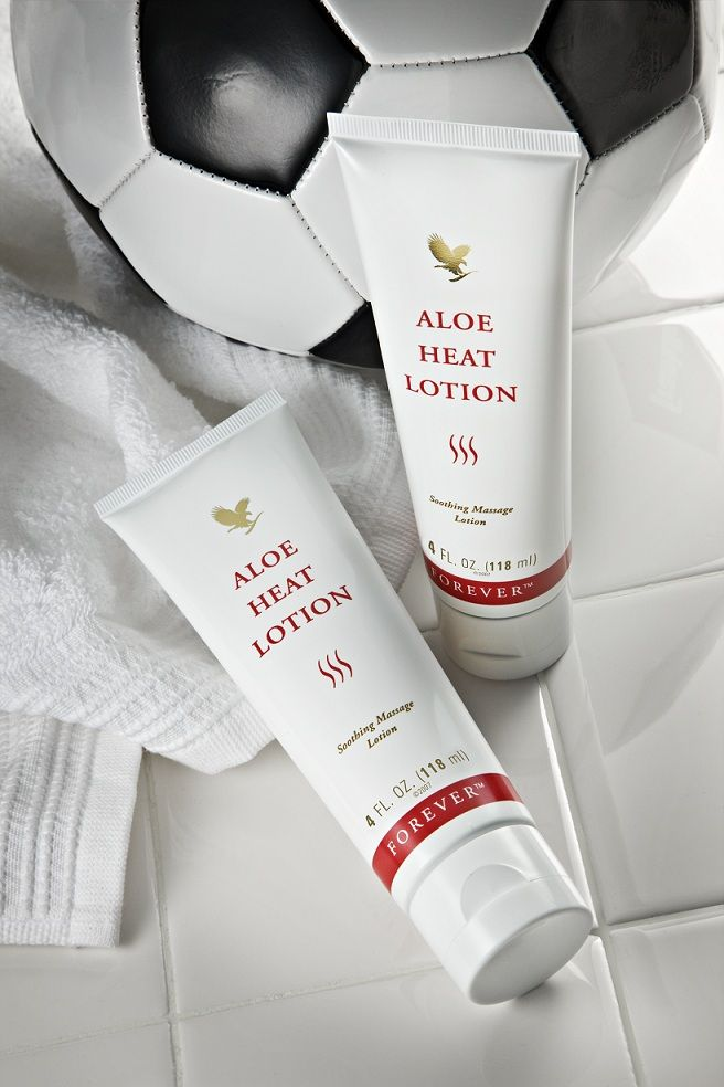 Aloe Heat Lotion, it's great for soothing stress and strain. Ideal for active lifestyles.