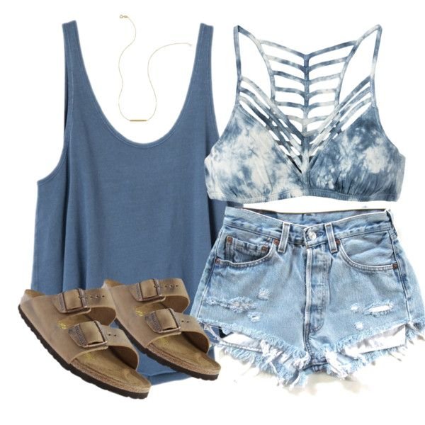 A fashion look from April 2016 featuring RVCA tops, RVCA and Birkenstock sandals. Browse and shop related looks.