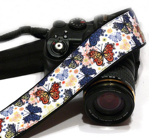 Butterflies Camera Strap. Nikon Canon Camera by LiVeCameraStraps