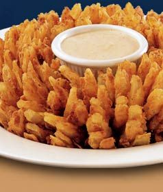 Applebee's Copycat Recipes: Awesome Blossom....... make it easy on yourself if you don't have a deep fryer and use as small/personal size onion!