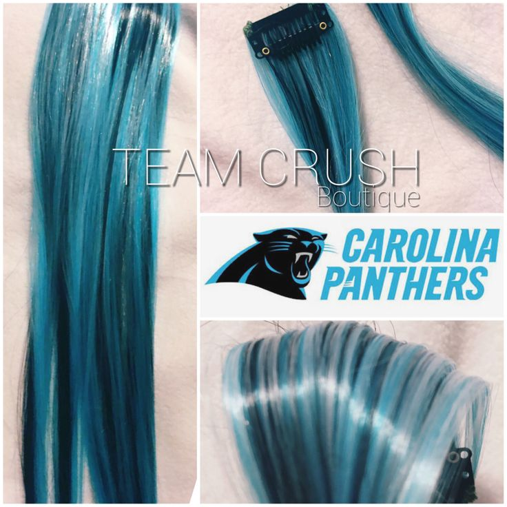 A personal favorite from my Etsy shop https://www.etsy.com/listing/261465769/carolina-panthers-18-clip-in-colored