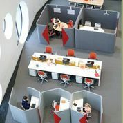 Haven Pods provide a defined space for individual focused work and space for  team collaboration