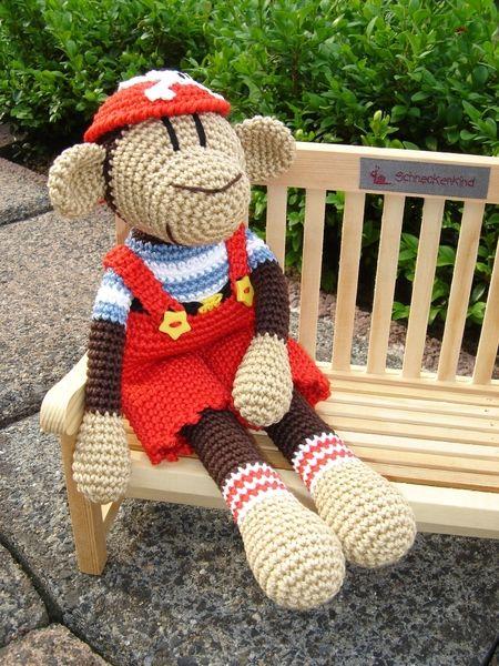 jack crochet monkey tiere h keln affe h keln und. Black Bedroom Furniture Sets. Home Design Ideas