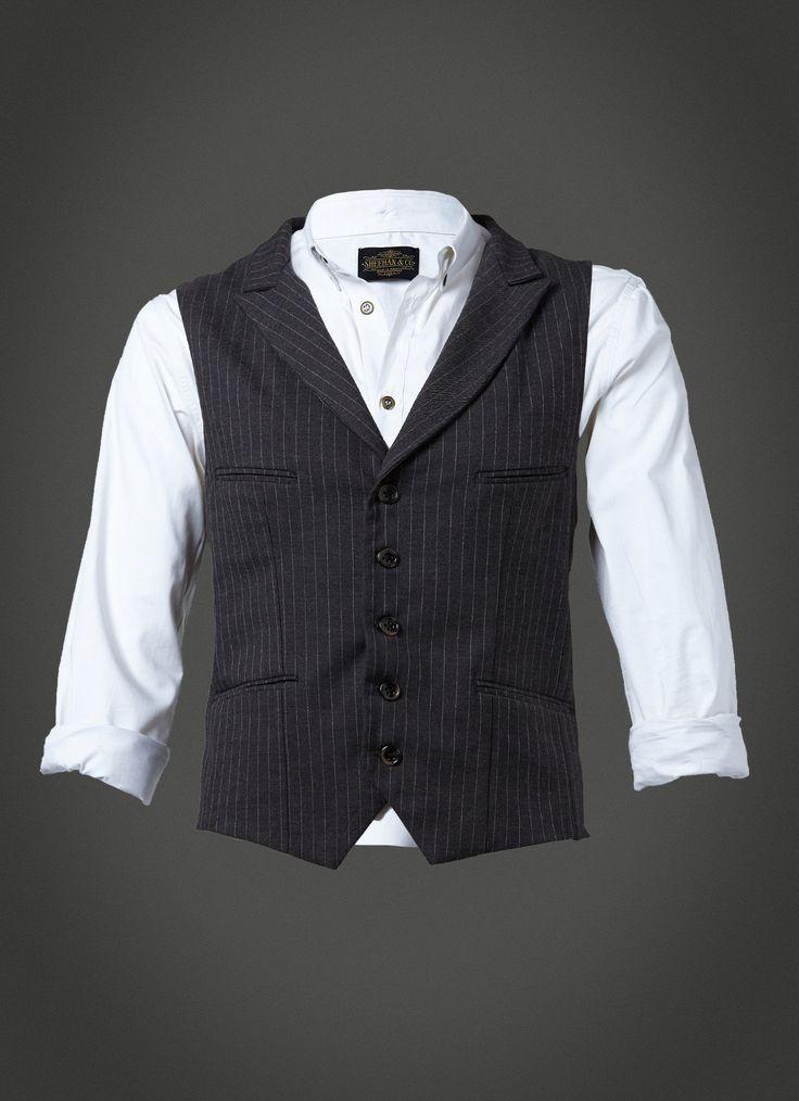 Grey Pinstripe Waistcoat