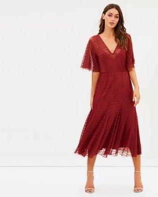 Talulah – Candid Lace Midi Dress Azalea