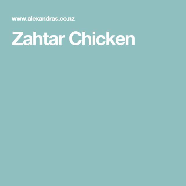 Zahtar Chicken