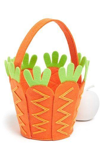 Manualidades Pascua canasta zanahoria