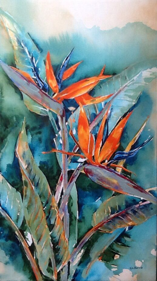 Strelitzia / Birds of Paradise Painting