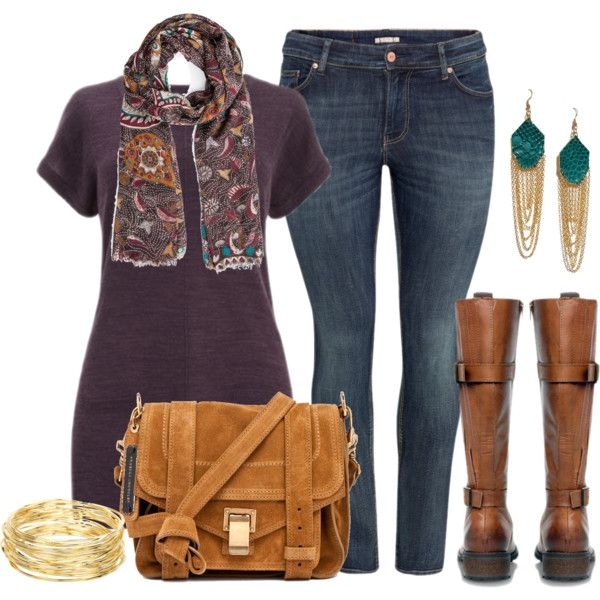 Fall Tunic - Plus Size, created by alexawebb on Polyvore