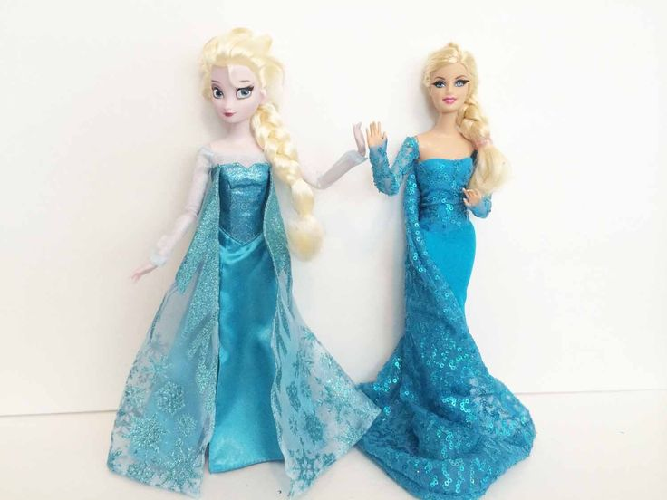 How to make an Elsa Dress for your Barbie - You Tube video Chad Alan channel