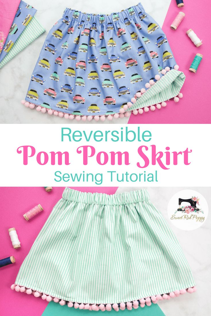 With this beginner-friendly dress, you can sew a delightful double-sided skirt with pompom braid …   – Näh-Ideen