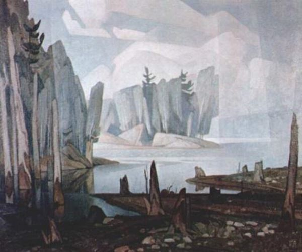 Silver Morning. A. J. Casson Canadian, Member of The Group of Seven 1898 - 1992