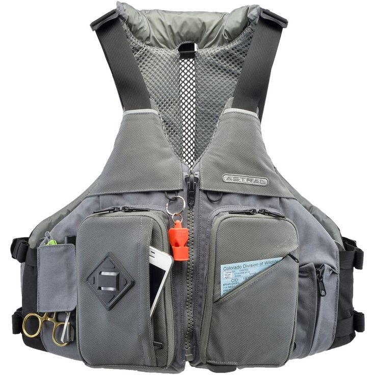 Fly fishing life jacket with many storage pockets and great range of motion. Astral Buoyancy Co. Ronny Fisher PFD #lifejackets #pfd on www.rockcreek.com #flyfishing