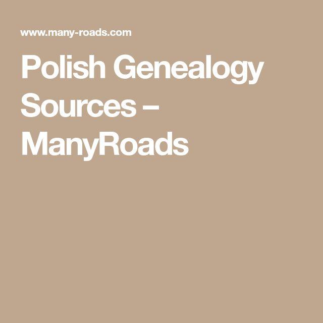 Polish Genealogy Sources – ManyRoads