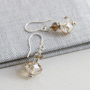 Golden Swarovski Rondelle Earrings