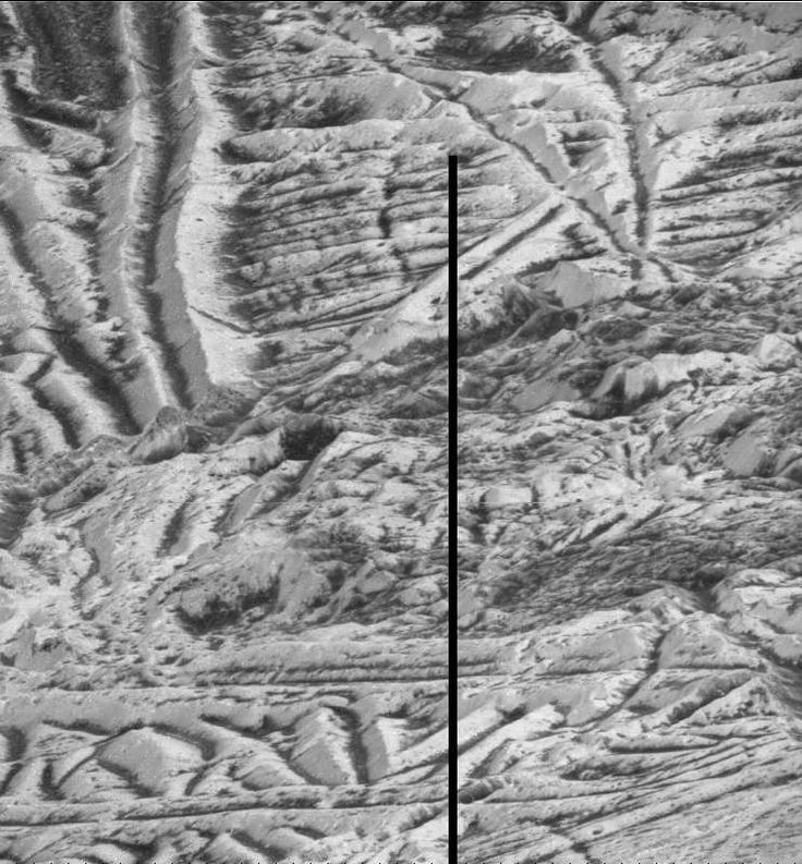En attendant les premières images de la future mission de survol d'Europe, voici la vue la plus détaillée jamais réalisée de la surface chaotique de ce satellite de Jupiter. Sur cette image prise par feu la sonde Galileo, la résolution est de 6 mètres par pixel. © Nasa, JPL-Caltech