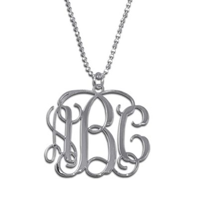 Pendentif initiales monogramme