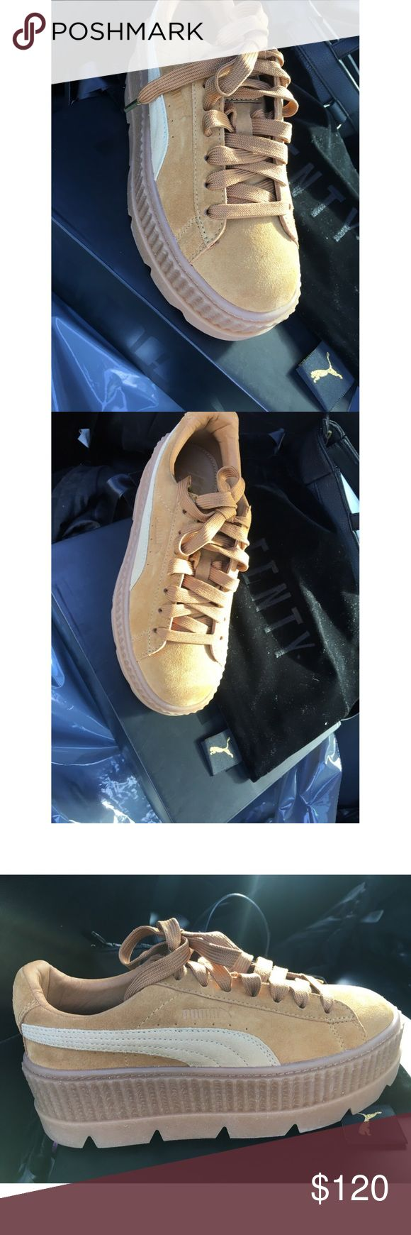 FENTY by RIHANNA SUEDE CLEATED CREEPERS Classic Creeper design with an elevated platform sole  Padded collar for added comfort  FENTY SUEDE CLEATED CREEPERS   Size 5 for Ladies (7.5)   NEW IN BOX WITH DUST BAG  OBO Puma Shoes Sneakers