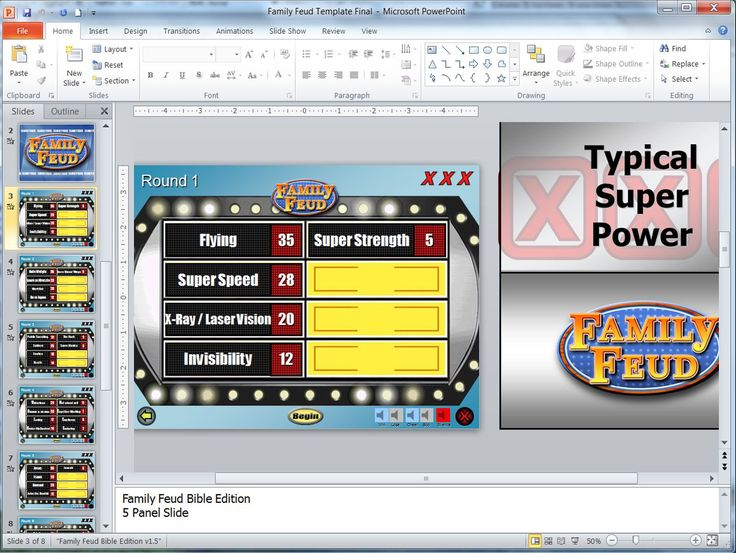 28 best Free Editable Games images on Pinterest Game boards - family feud power point template