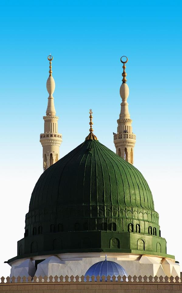 #Main #Dome of al-#Masjid an-#Nabawi ( #Madinah, #Saudi #Arabia)