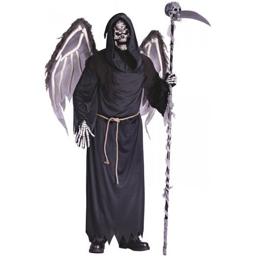 Adult Male Winged Reaper Costume-One size fits most adults: Clothing http://www.worldofadultcostumes.com/Male-Costumes.html #adult_halloween_Costumes #funnycostumes #male_costumes #halloween_2013 #best_halloween_costumes #costume_spoofs #doctor_death #grim_reaper #Death_costume