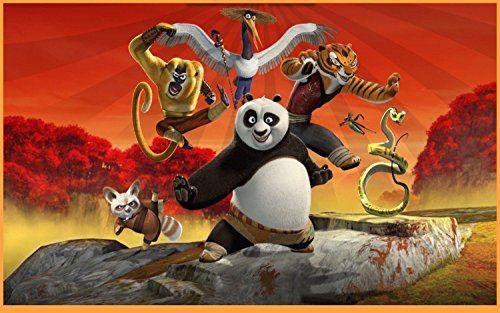 SDore Kung Fu Panda Edible Birthday Cake Topper Frosting Icing 1/4 Sheet