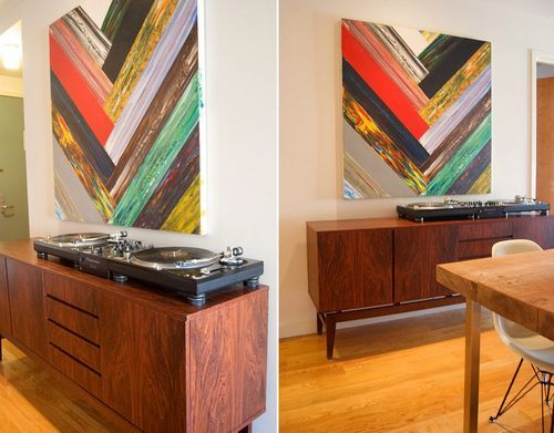 art + record player