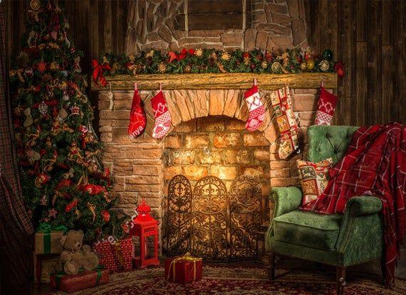 Santa Workshop Kids World Kids Room Baby Wallpaper Christmas Etsy Christmas Backdrops Christmas Tree And Fireplace Christmas Fireplace