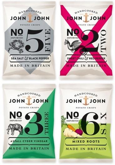 chips.: Potatoes Chips, Color, John Crisp, Johnjohn, Packaging Design, Crisp Packaging, Graphics Design, John John, Potatoes Crisp