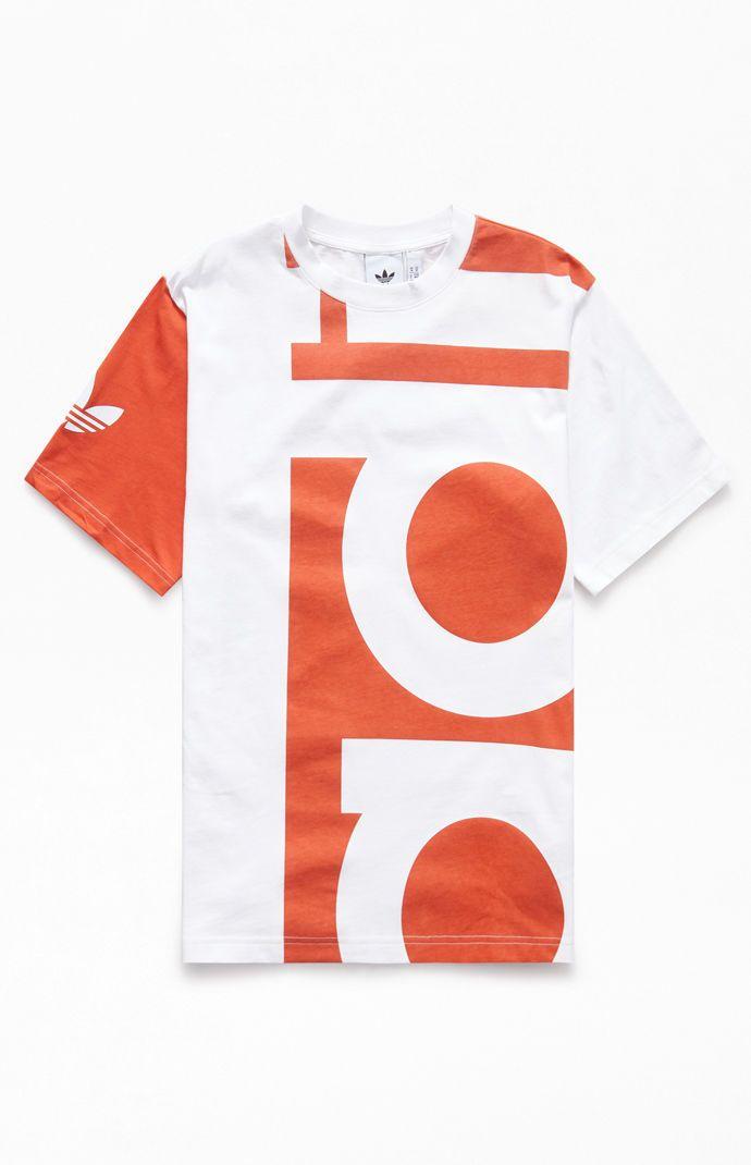 Adidas Red Big Adi T Shirt In 2019 Ss20 Adidas Men Adidas