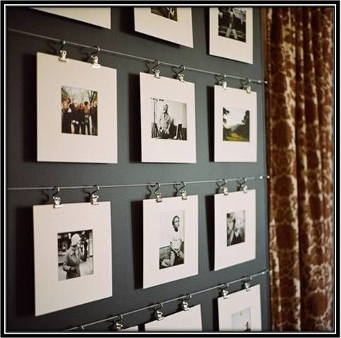 stylish way to hang photo frames on the wall