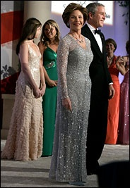 Laura and George W. Bush, 2005...we Midlanders Love you Laura you are our Golden girl...full of glamour & grace!