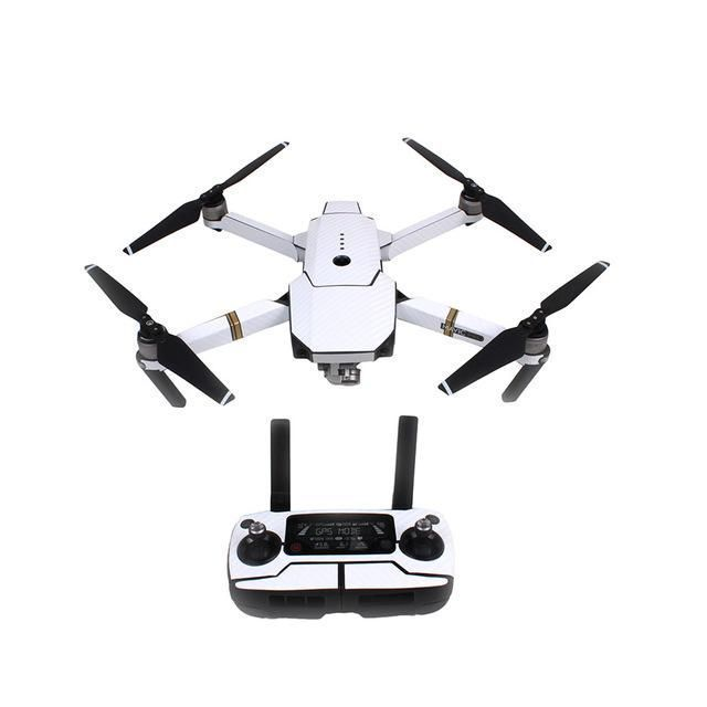 1set Gradient Carbon Fiber Remote Control Body Arm Full Set Stickers Waterproof Cool Sticker For DJI